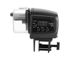 Automatique Aquarium minuterie Nourriture pour poissons Mangeoire voiture Feeder avec écran LCD Film de grande capacité pour Week-end de vacances 40g conteneur Piles pour flocons Pellets et table