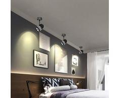 1er Multi Angle réglable Plafond Downlight Noir 7 W LED Phare A Haute luminosité, SMT image lumière, éclairage Culture, points dans la vitrine en, Blanc Chaud. Moderne 7W-3000K