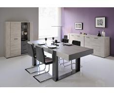 Matelpro-Table de salle à manger rectangulaire gris loft/gris ombre Cesario 2