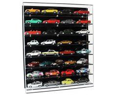 Widdowsons Display Cases Vitrine Murale en Acrylique avec 8 étagères pour modèles réduits de Voitures à l'échelle 1/43-47 x 13,5 x 55,5 cm
