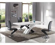 Table extensible ultra design coloris blanc laqué
