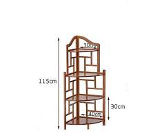 QYJpB Meuble d'angle Triangle Etagère Salon Rétro Simple Multi-Fonction Armoire De Rangement Etagère d'angle Etude Bibliothèque Salon Vitrine (Size : 115cm)