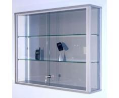 Vitrine murale LINK - 2 tablettes, portes coulissantes h x l x p 800 x 1000 x 200 mm - armoire vitrée armoires vitrées vitrine vitrine collecteur vitrine d'assortiment vitrine en verre vitrine murale vitrines vitrines collecteur vitrines d'assortiment