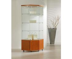 MHN Vitrine dangle verrouillable en Verre Grand Meuble Vitrine en Verre Cerisier 68 x 40 cm