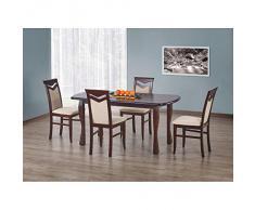 JUSThome Table de salle ? manger extensible Henryk en Bois Noyer (LxlxH): 160÷200/80/75 cm