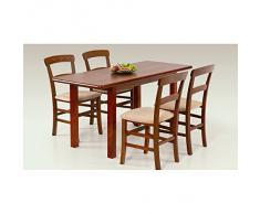 JUSThome Table de salle ? manger extensible Dinner 120/157 en Bois Aulne(LxlxH): 120÷158/68/74 cm
