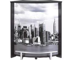 Simmob VISIO096NO508 Manhattan 508 Meuble Comptoir Bar Bois Noir 44,9 x 96,7 x 104,8 cm