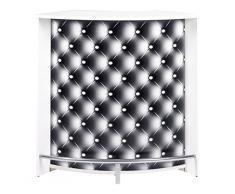 Simmob SNACK106BL911 Capitons 911 Meuble Bar/Comptoir de Cuisine/Meuble d'Accueil Bois Blanc 53,3 x 106,9 x 104,8 cm