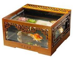 MTCWD Bureau Aquarium Table Fish Tank Décoration Humidification Paysage Naturel Décoration Dintérieur Fontaine (Size : 25x25x41cm)