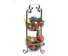 Corbeille à fruits à étages 10-320 grille 62 étagère de cuisine avec 2 paniers corbeille à fruits