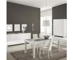 N-085 Salle à Manger complète Blanc laqué Design Bianco