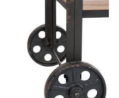 Étagère sur roues Bois et Métal - DOCK - L 186 x l 183 x H 57