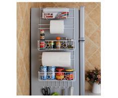 Yontree Étagère à Suspendre pour Refrigeratueur avec Ventouses Décoration du Fleur Panier à Suspendre Étagère à Epices Rangement Cuisine