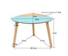 PIAOLING Nordic Triangle Coffee Table, Sofa Table d'appoint Salon Côté Armoire Salon Table à café Nordic Small Coffee Table (Color : Blue)