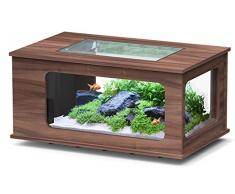 Aquarium table LED 100X63 cm noyer foncé