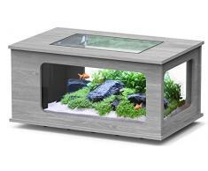 Aquarium table LED 100X63 cm frêne gris
