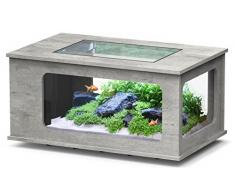 Aquarium table LED 130X75 cm béton ciré