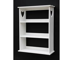 DanDiBo ambiente 12013 étagère étagère à épices 50 cm blanc étagère de cuisine vintage style maison de campagne