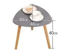 FRF Petite table basse- Petite table basse triangulaire créative de salon, table basse de sofa de table de coin de balcon (Couleur : Gray, taille : 40x40x40cm)