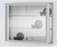 Vitrine murale LINK - 2 tablettes, portes coulissantes h x l x p 590 x 800 x 120 mm - armoire vitrée armoires vitrées vitrine vitrine collecteur vitrine d'assortiment vitrine en verre vitrine murale vitrines vitrines collecteur vitrines d'assortiment