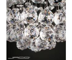 Lustre - A++ à E - plafonnier en cristal - design élégant - hauteur 50 cm - diamètre 25 cm