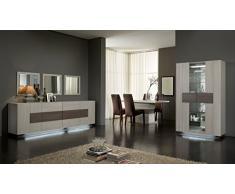 Matelpro-Salle à manger complète contemporaine chêne blanchi Luxus-Table 190 cm