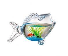 OMEM FishOMEM Fish Tank en Forme de Poisson - Aquarium créatif Aquarium Petit Poisson Rouge Mini Aquarium pouvant être placé dans Le Salon, Bureau, Table de Bureau, Aquarium Mignon