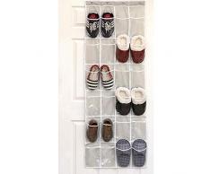 Sac à chaussures Pliable - Sac de Rangement Suspendu Panier Pochette de Rangement Sac Organisateur Mural en Tissu - 24 Grille - 165 * 49 * 22cm