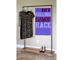 Vêtement de Heavy Duty Vêtements Rack industriel Tuyau de Retail Store Luminaire