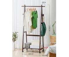 Armoire Manteau en bois Racks Cintres Landing Chambre Vêtements Étagères Rack de stockage (Couleur : A, taille : 60 cm)