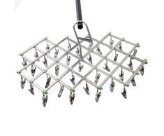 LIXIAQ1 Multi-Pince en Acier Inoxydable Airer Rack Pliable Vêtements Cintre sous-Vêtements Chaussette Sèche-Sèche Rack Serviette Clip,Style 5,45 * 45 cm