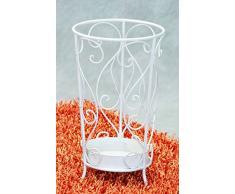 Porte-parapluie en métal Blanc diamètre 25 x hauteur 45 cm