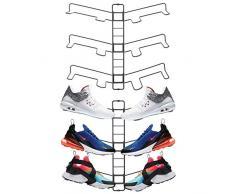 mDesign rangement chaussures (lot de 2) – étagère chaussure murale ajustable pour trois paires de baskets, chaussures de sport, etc. – gain despace part rapport à une armoire chaussures – gris