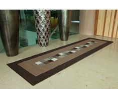 Long Tapis Ultra Moderne Marron Clair & Foncé 10 Tailles Disponibles