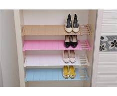 Apsoonsell Armoire séparateur réglable de salle de bain Rack de stockage étagère pour vêtements jouet de cuisine Couverts, Plastique, rose, 11.8-15.7 inch,Wide: 9.4 inch
