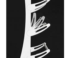 ClookYuan Range-Chaussures Mural en Fer forgé Art avec Porte-Chaussures avec Outil de Finition pour Rangement de Style Moderne, Style Maison, Blanc - 8 Couches