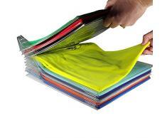 WEIHUIMEI 10pcs/Set t-Shirt Armoire Vêtements Magiques Rapide à Linge Organisateur Pliant Rack de Stockage à Bord Durable sans Rides