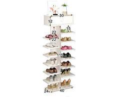 YLCJ Étagères de Rangement pour Chaussures en Bois Massif à 5 Niveaux avec tiroirs, Chaussures, Organisateur, étagères pour Chaussures, Debout (Couleur: C)