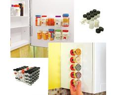 Étagère à épices Présentoir à épices Support Plastique au Mur ou Placard
