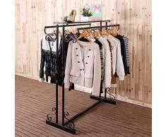 Penderie Dressing ARMOIRE Style Européen Magasin De Vêtements Présentoir De Fer Retro Do Old Double Row Vêtements Rack Femme Boutique ( Couleur : #3 )