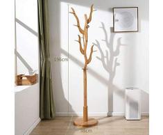 Forme d'arbre Porte-Manteau-Bois Massif Portemanteau Chambre À Coucher Simple Étendoir Ménage Créatif Vertical Porte-Sac Cintre Atterrissage,Log