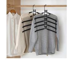 Konesky Multi Couche vêtements cintres 5 en 1 Placard Cintre vêtements Rack Rack Stockage Stockage Organisateur pour Veste Manteau Chemise