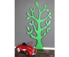 Clever-moebel Porte-manteau mural en forme d'arbre Blanc, vert, 150 cm