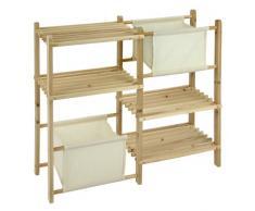 Multipurpose étagères en bois avec 4 étagères et 2 tiroirs - idéal comme une étagère étagère à chaussures ou salle de bains!