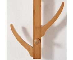 TGBYHN Porte Manteau, Support mural pour accrocher un porte-manteau à une branche d'arbre en bambou flottant fixé au mur (Size : 8 hooks × 2)