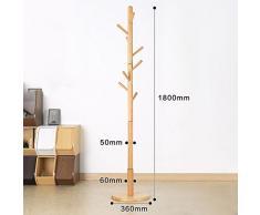 Ameublement Bois Porte-manteau,Support cintre Arbre branche style Durable Support de cintre chapeau-I (70.8x14.2inch)180x36cm