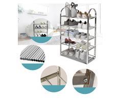 chaussures en acier inoxydable étagère à chaussures en métal racks simples étagère à chaussures simples multicouche ( taille : Five Layers )