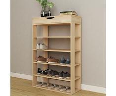 SogesHome 75x 24 x 94 cm Range-Chaussures 5 Tablettes avec tiroirs, étagère de Rangement pour Chaussures en Bois,Millennium Oak, L24-MP-SH