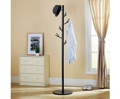 Scofeifei Supports d'arbre en métal Suspendus Cintre Porte-Manteaux Porte-Manteaux étage Salon Moderne Maison (Couleur: Noir) (coloré : Noir)