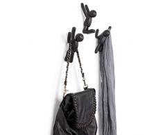 UMBRA Buddy Hooks assorted. Crochets muraux Buddy de Umbra - Porte-manteau mural décoratif, ensemble de 3, noirs.